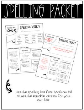 McGraw-Hill Wonders Spelling Unit 1 Bundle