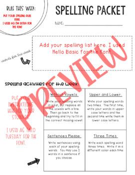 McGraw-Hill Wonders Spelling Unit 1 Week 1 (4th Grade)