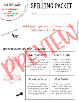 McGraw-Hill Wonders Spelling Unit 1 Week 4 (4th Grade)