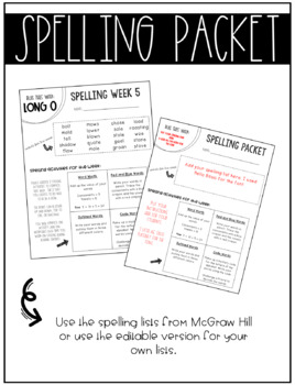 McGraw-Hill Wonders Spelling Unit 1 Week 5 (4th Grade)