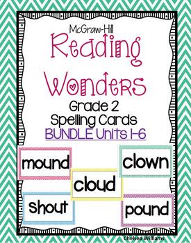 McGraw Hill Wonders 2nd grade Spelling Words Unit 1-6 BUND