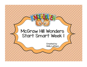 McGraw Hill Wonders Start Smart Kindergarten Week 1