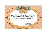 McGraw Hill Wonders Start Smart Kindergarten Week 3