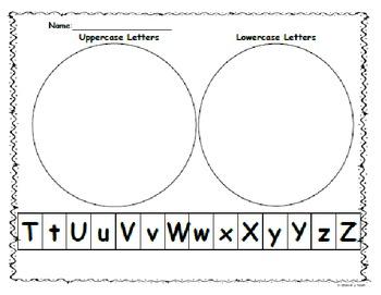 Kindergarten:Start Smart Letter Sort Capital/Lowercase Tt-Zz