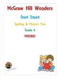 McGraw Hill Wonders: Start Smart- Spelling & Phonics Test-