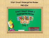 McGraw Hill Wonders Start Smart Week 1 Kindergarten Review First Grade