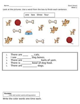 McGraw Hill Wonders Start Smart Week 2 Homework First Grade