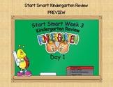 McGraw Hill Wonders Start Smart Week 3 Kindergarten Review First Grade