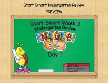 McGraw Hill Wonders Start Smart Week 3 Kindergarten Review