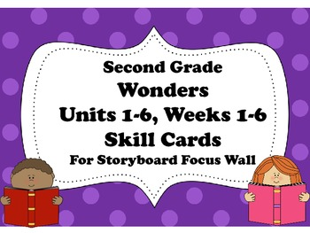 McGraw-Hill Wonders Storyboard Focus Wall Skills Cards Units 1-6 Second Grade