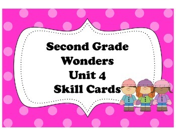 McGraw-Hill Wonders Storyboard Focus Wall Skills Cards Unit 4 Second Grade