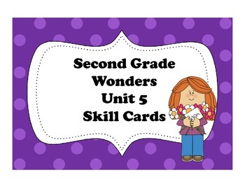 Wonders Storyboard Focus Wall Skills Cards Unit 5 Second G