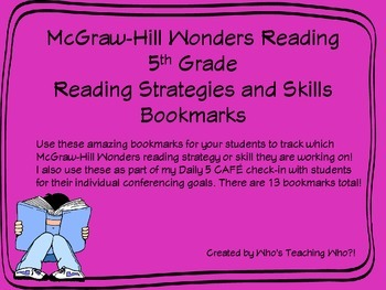 McGraw-Hill Wonders Strategies and Skills Bookmarks