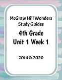 McGraw-Hill Wonders Grade 4 Study Guide Unit 1 Week 1