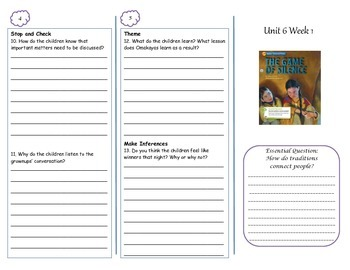 McGraw-Hill Wonders The Game of Silence Trifold
