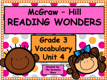 McGraw Hill Wonders Third Grade Unit 4 Vocabulary