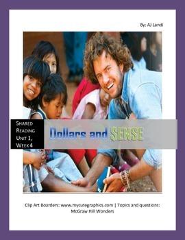 McGraw Hill Wonders UNIT 1, WEEK 5 Shared Reading Dollars and Sense