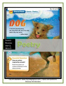 McGraw Hill Wonders UNIT 2, WEEK 5 Shared Reading: Poetry
