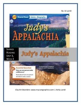 McGraw Hill Wonders UNIT 3, WEEK 3 Shared Reading Judy's Appalachia