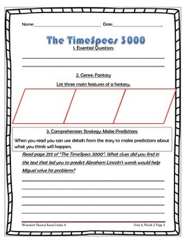 McGraw Hill Wonders UNIT 4, WEEK 2 Shared Reading The TimeSpecs 3000