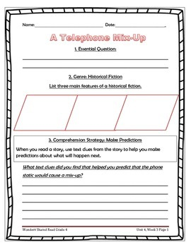 McGraw Hill Wonders UNIT 4, WEEK 3 Shared Reading A Telephone Mix-Up
