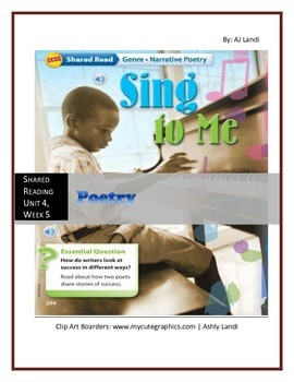 McGraw Hill Wonders UNIT 4, WEEK 5 Shared Reading Poetry