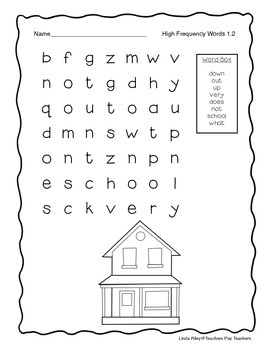 McGraw Hill Wonders Unit 1  High Frequency Word Searches, First Grade