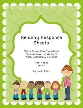 McGraw Hill Wonders Unit 1 Reading Response, First Grade
