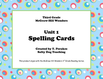 McGraw Hill Wonders Unit 1 Spelling - colorful circles background