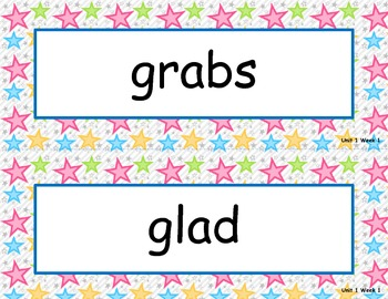 McGraw Hill Wonders Unit 1 Spelling - stars background
