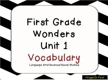 Wonders Unit 1 Vocabulary: Common Core