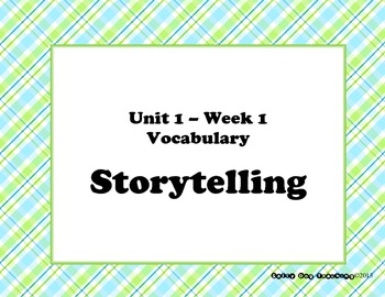 McGraw Hill Wonders Unit 1 Vocabulary Word Shape Cards Plaid Background