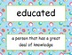 McGraw Hill Wonders Unit 1 Vocabulary Words and Definitions Cards - circles