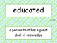 McGraw Hill Wonders Unit 1 Vocabulary Words and Definition
