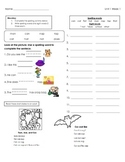 McGraw Hill Wonders Unit 1 Week 1 Homework First Grade