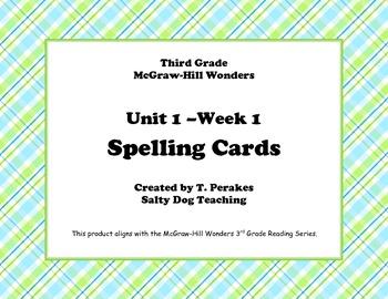 McGraw Hill Wonders Unit 1 Week 1 Spelling