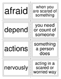 McGraw Hill Wonders Unit 1 Week 1 Vocabulary Words Flash Cards