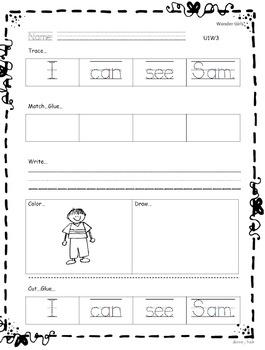 Kindergarten Wonders: Unit 1 Week 3- Lesson Plan/Activities
