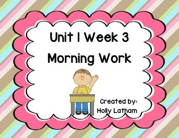 McGraw Hill Wonders Unit 1 Week 3 Morning Work First Grade