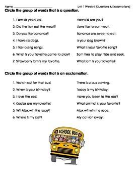 McGrawHill Wonders Unit 1 Week 4 Grammar Practice Question