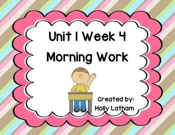 McGraw Hill Wonders Unit 1 Week 4 Morning Work First Grade
