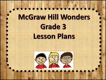 McGraw Hill Wonders Unit 1 Week 5 Lesson Plans