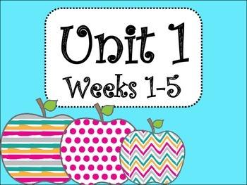 Unit 1 Weeks 1-5 (4th Grade) Bundle