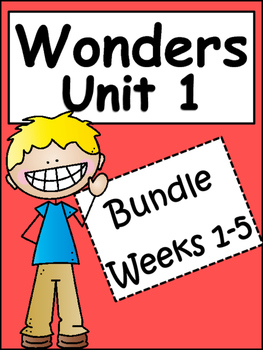 McGraw-Hill Wonders Unit 1 Weeks 1-5 Bundle: 4th Grade