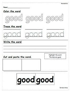 Kindergarten Wonders: Unit 10 Week 2- Lesson Plans/Activities