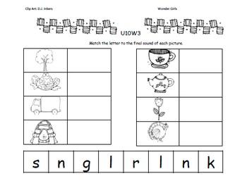 Kindergarten Wonders: Unit 10 Week 3- Lesson Plan/Activities
