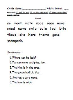 Kindergarten: Unit 10 Week 3- Lesson Plan/Activities