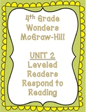 McGraw Hill Wonders 4th Grade Unit 2 Leveled Readers-Respond To Reading
