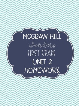McGraw-Hill Wonders Unit 2 First Grade Homework