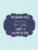 McGraw-Hill Wonders Unit 2 First Grade Homework